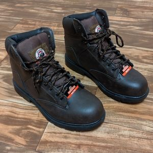 Brahma steel toe boots men size us 10.5